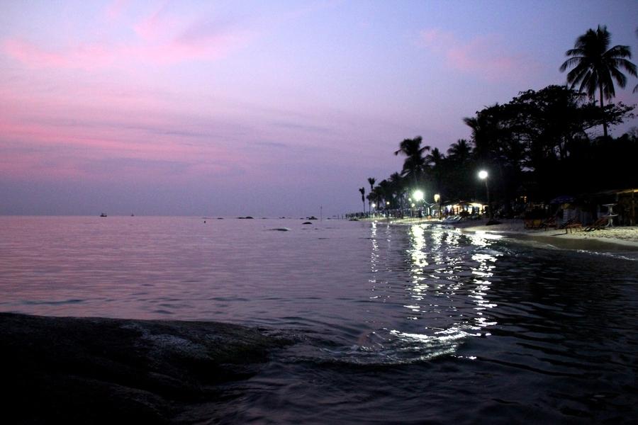 пляж Хуа Хина перед рассветом
