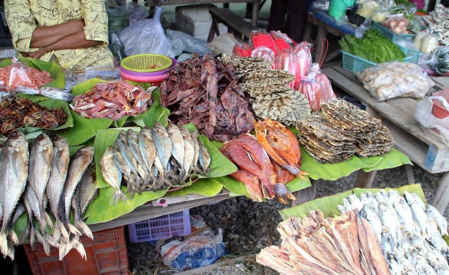 Сушеная рыба в Таиланде