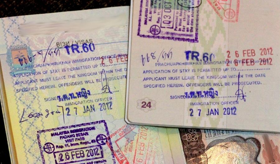 Печати о продлении тайской визы