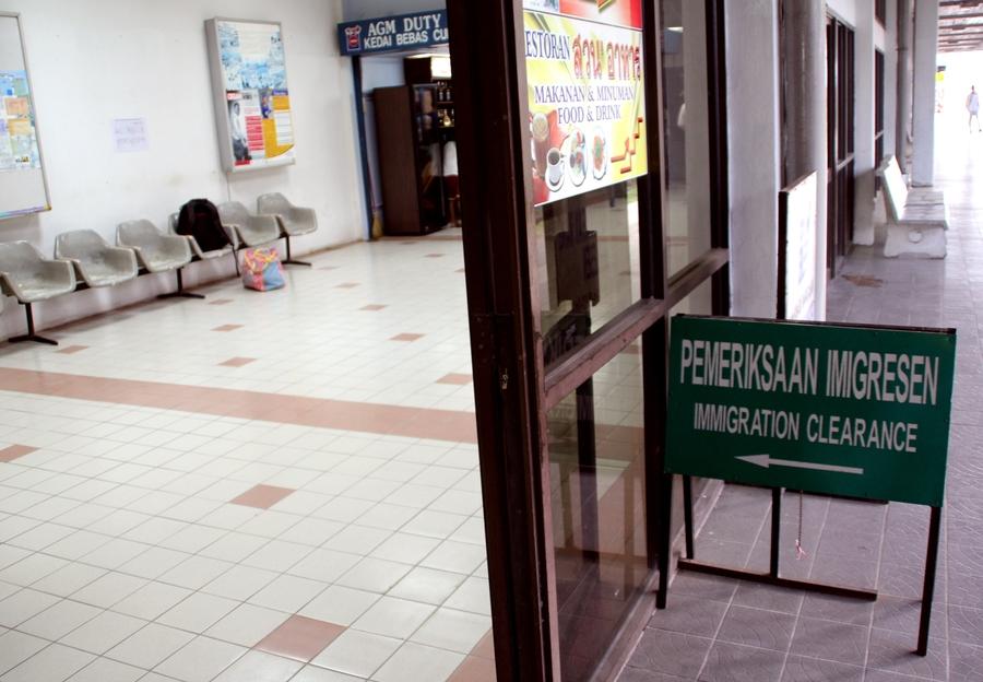 прохождение границы между Таиландом и Малайзией