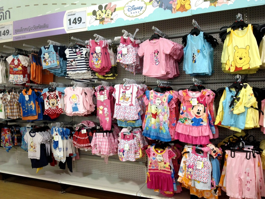 Детская одежда в Тайланде