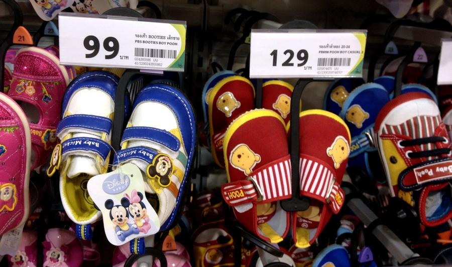 Обувь для ребенка в Тайланде