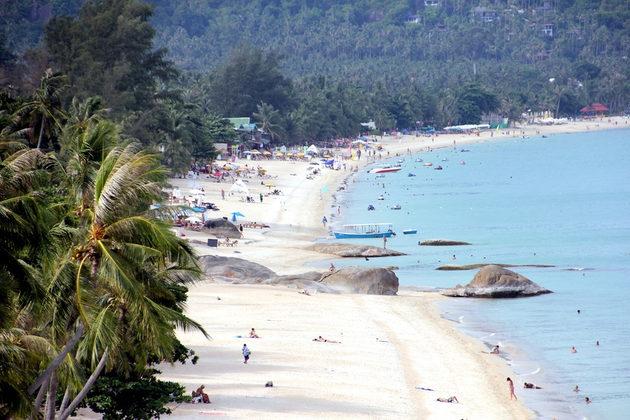 Пляж Ламаи (Lamai Beach) на острове Самуи, Тайланд