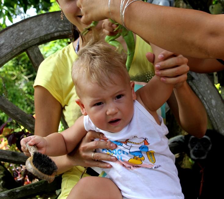 В Тайланде с маленьким ребенком