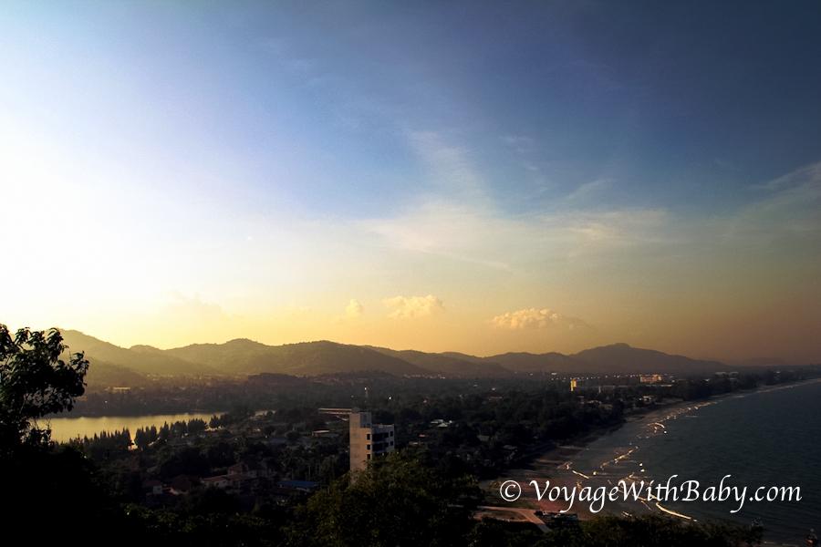 Вид на Хуа Хине на закате