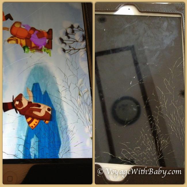 Треснул экран на айпаде в Таиланде