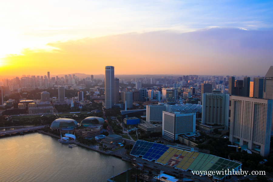 SkyPark в Сингапуре на закате