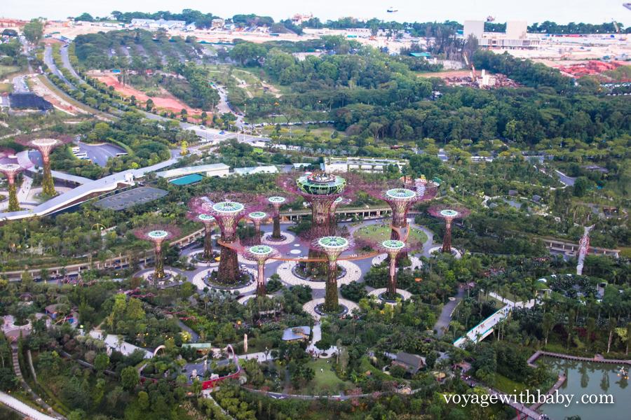 Обзорная площадка отеля Marina Bay Sands - SkyPark