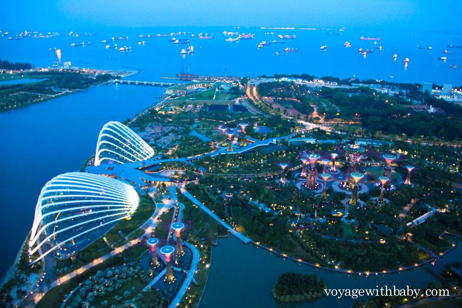 Смотровая площадка на крыше отеля в Сингапуре