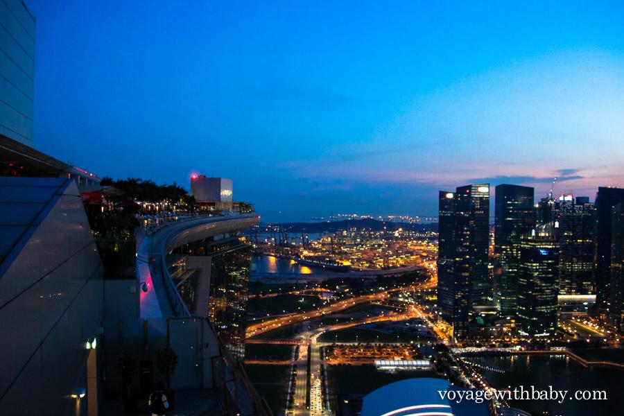Крыша отеля Marina Bay Sands