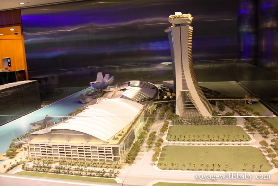 Макет отеля Marina Bay Sands
