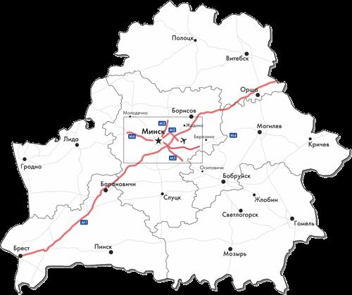 Карта платных дорог на