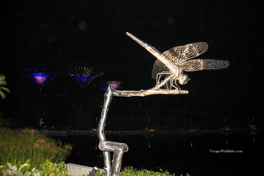 Парк Марина Сити ночью