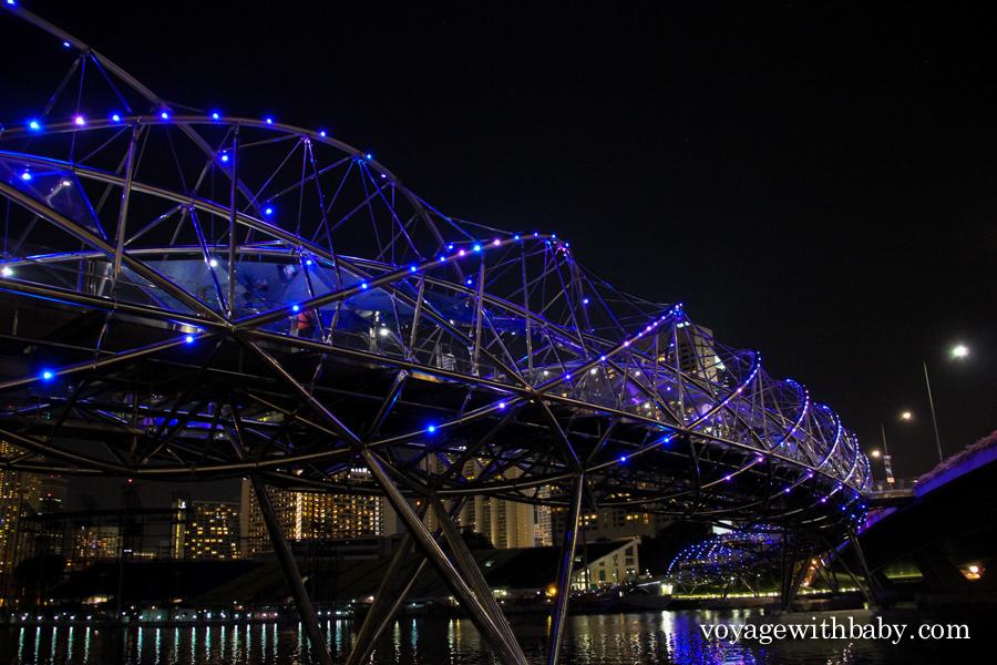 Мост Хеликс (The Helix Bridge) в Сингапуре