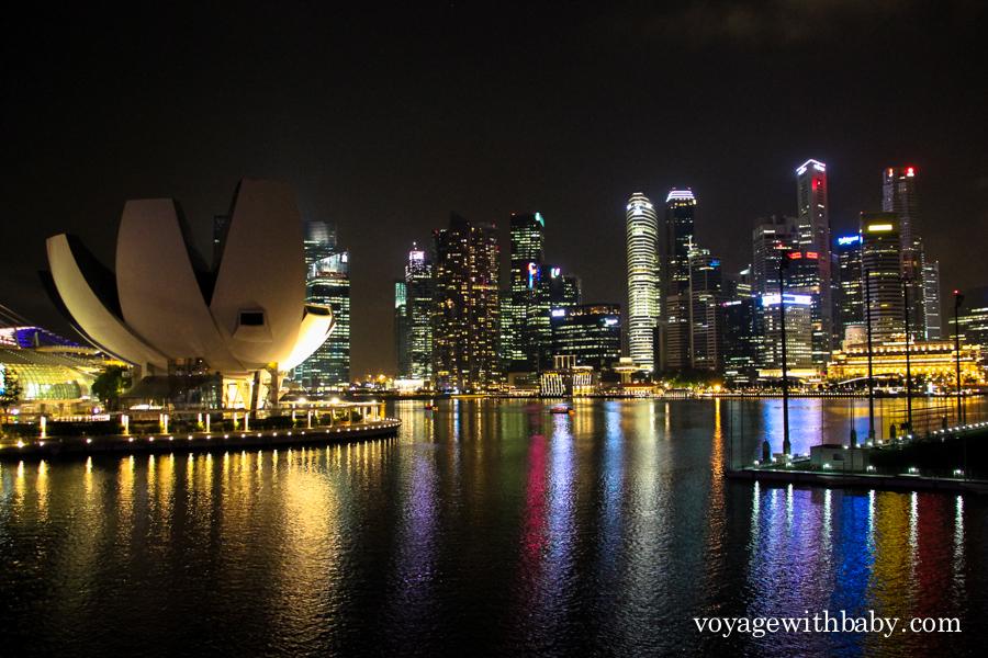 Вид с моста Хеликс на Сингапур