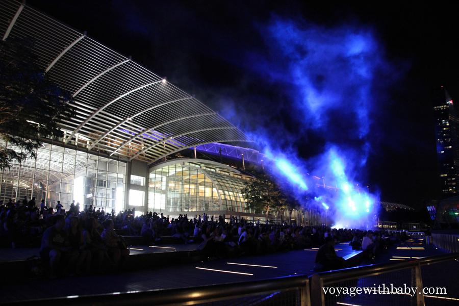 Лазерное шоу Сингапур