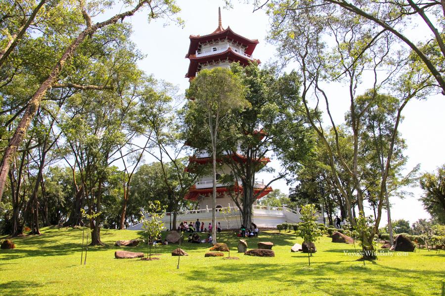 Китайский сад в Сингапуре - 7миэтажная пагода
