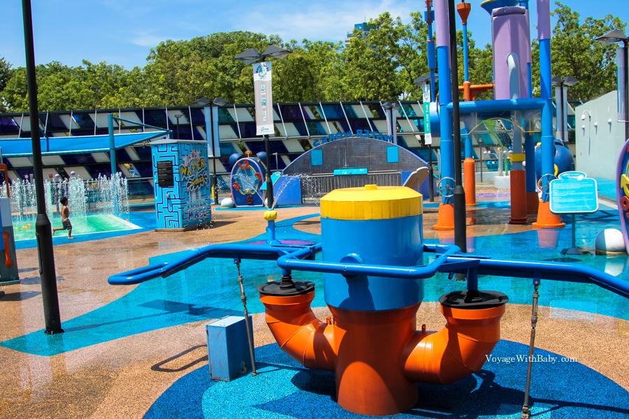 Водная детская площадка в Сингапуре