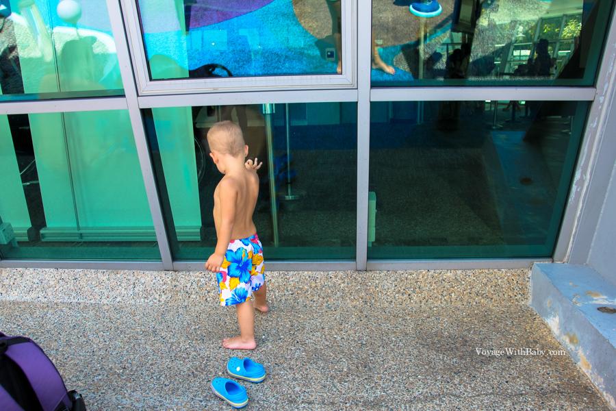 Водная детская площадка в научном центре Сингапура