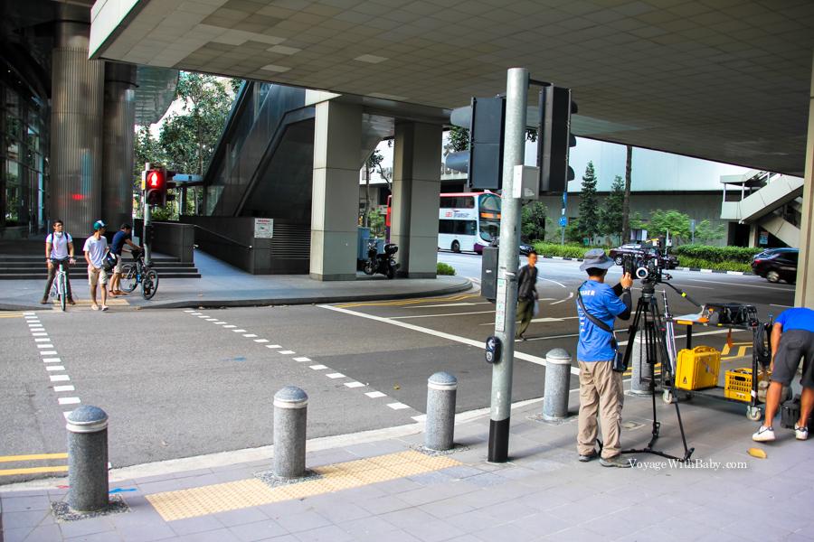 Съемки фильма в Сингапуре