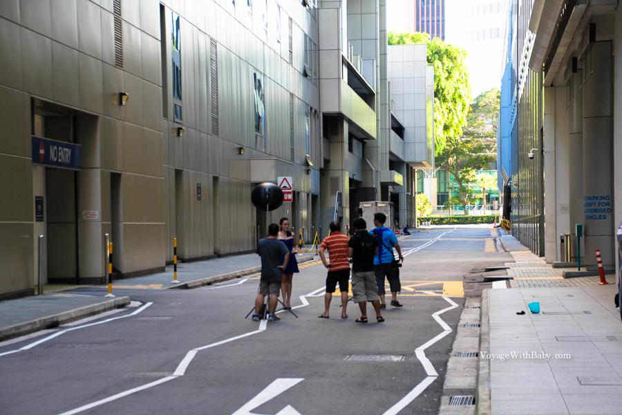 Съемки в Сингапуре