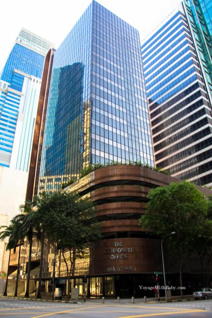 Небоскребы в Сингапуре днем