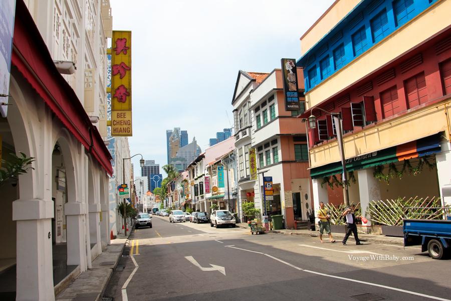 Китайский Квартал в Сингапуре днем