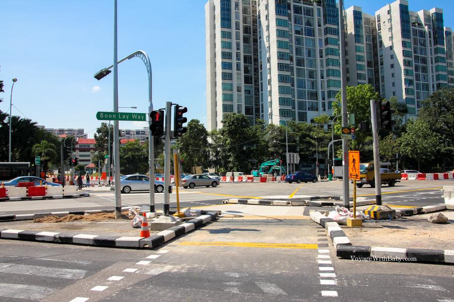Перекресток в Сингапуре
