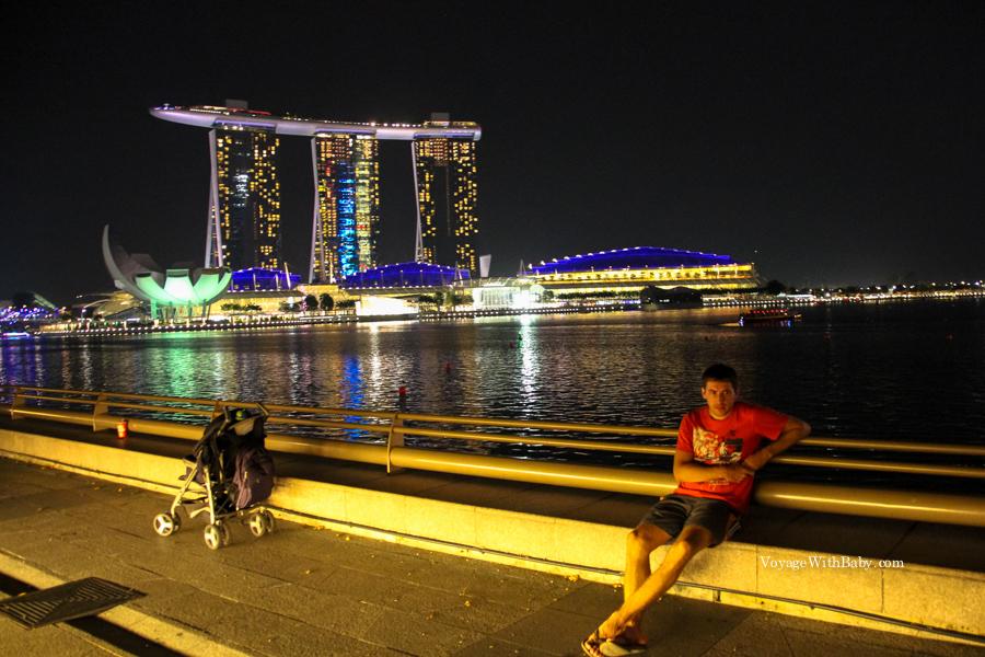Прогулка по ночному Сингапуру