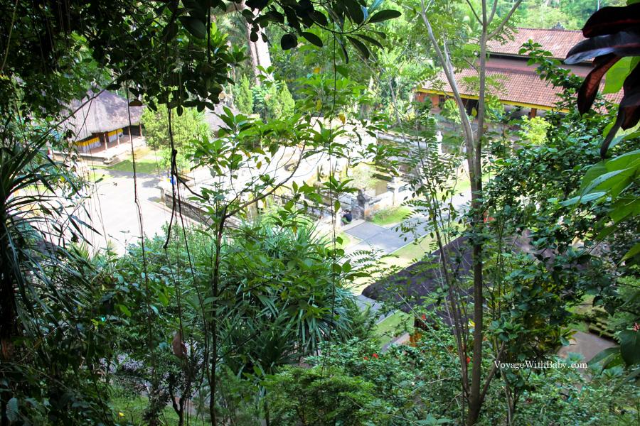 Вид сверху на храм Гоа Гаджа на Бали