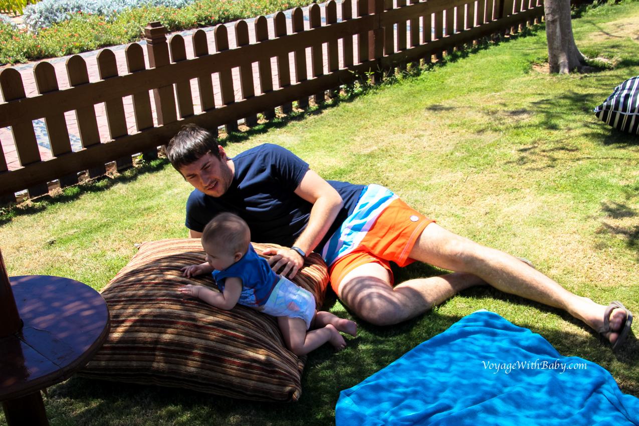 Отпуск папа с сыном