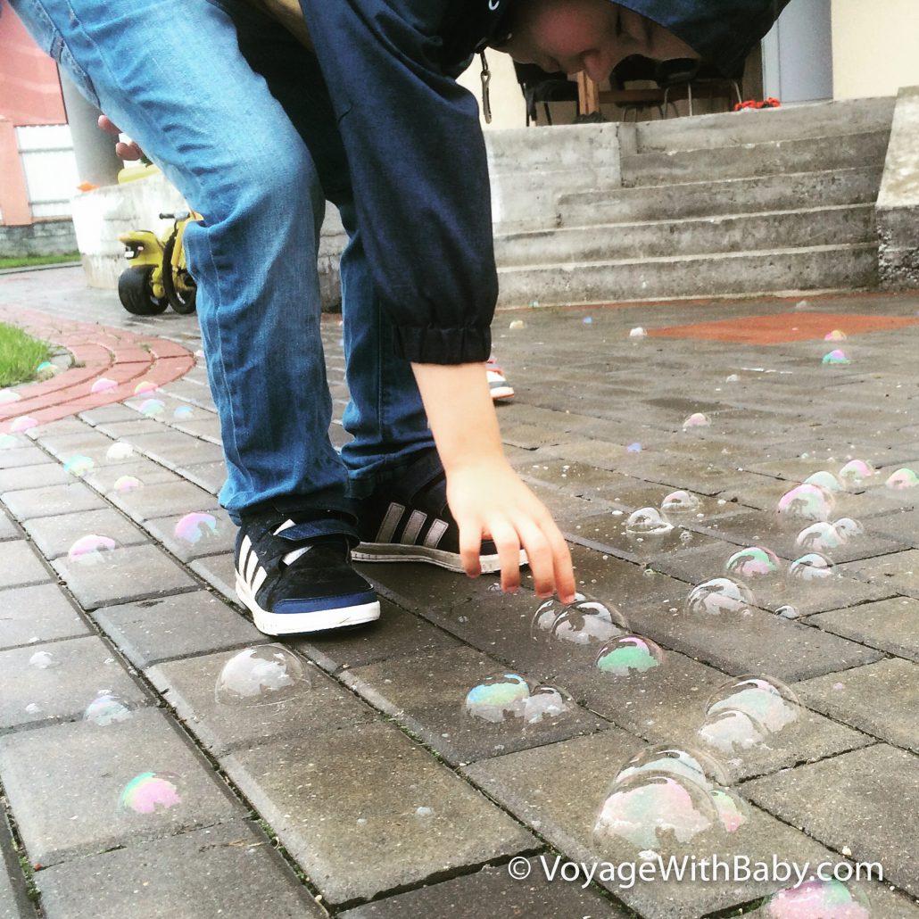 Пузыри не лопаются