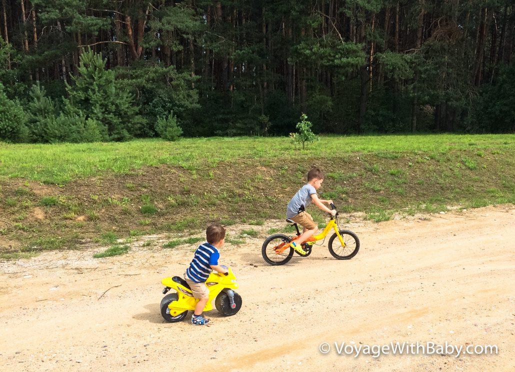 Толокар и велосипед