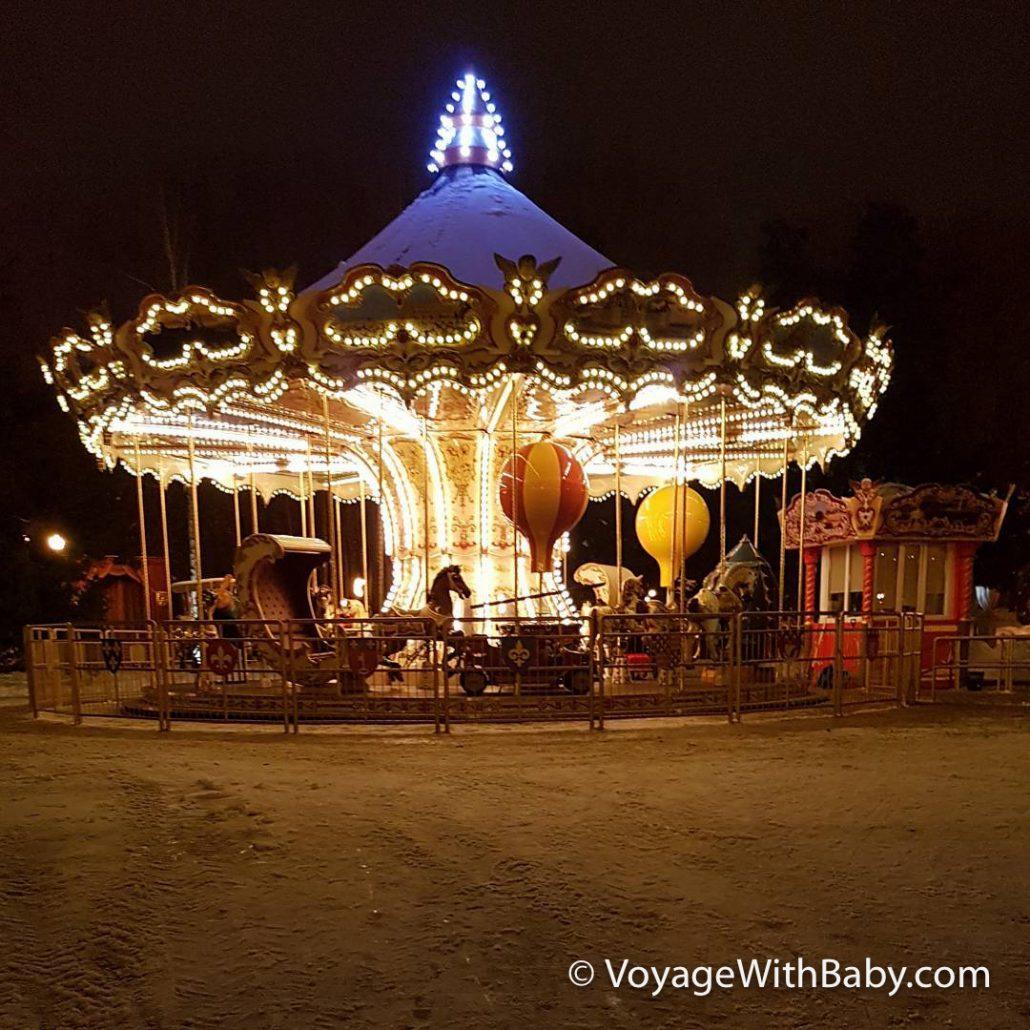 Парк Горького в Харькове - Французская карусель зимой