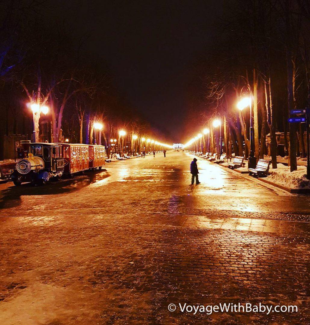 Парк Горького в Харькове зимой